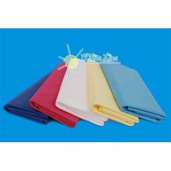Простыни одноразовые 80 х 200 см (голубой, белый)