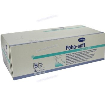 Peha-soft латексные неопудренные перчатки