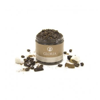 Скраб антицеллюлитный для тела с кофеином и маслом карите GLORIA